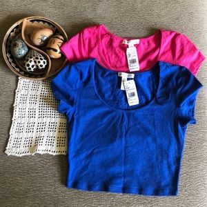 Tops - Pink and Blue Crop Tops